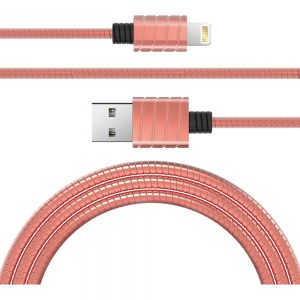 iWalk Stainles Steel Spring Wire lightning 2.4A cable Image