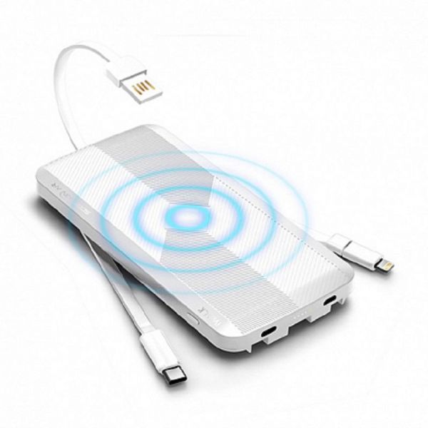 iWalk Scorpion Air Powerbank with Wireless Charger White Image